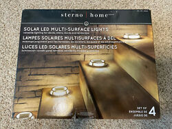 Sterno Home Solar Multi Surface Light 4 pack New
