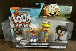 The Loud House Figure 4 Pack Lincoln Clyde Lisa Leni Figures Nickelodeon 2018 $12.99