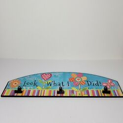 Hobby Lobby Child#x27;s Artwork Wall Display 23.75 in 3 Spring Clips $17.99