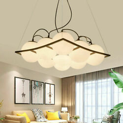 Hanging Light Chandeliers White Glass Ceiling Fixtures Home Modern Style 80cm $113.05