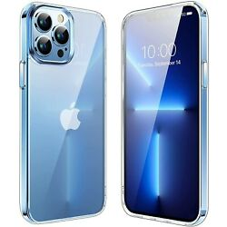 For iPhone 13 Pro Max 13 Pro 13 Mini Case Clear Crystal Cover Screen Protector $8.94