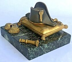 Napoleon Inkwell Stand Hat Antique French Desk item Vintage $299.99