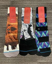 3 Pairs of Mens Stance Dwayne Wade Collection Socks L XL 9 13 $22.99