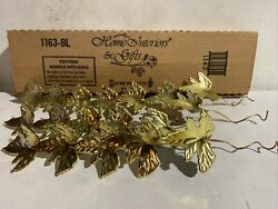 """Home Interior 1163 BL Gold Metal quot;Leavesquot; Wall Accents 14"""" 16"""" 18"""" set of 3 $15.00"""