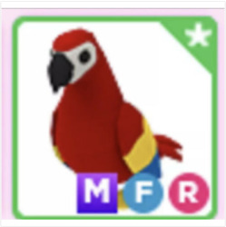 Mega Neon Fly Ride MFR Parrot Roblox Adopt me $160.00