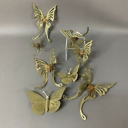 Home Interior Metal and Wood Swallowtail Butterflies Wall Accents Lot Of 7 Pins $11.77