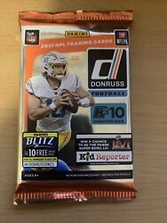 2021 Panini Donruss Football 1 PACK from Hobby Box Factory Sealed RC ROOKIES $30.00