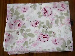 Simply Shabby Chic Pink Roses Floral Twin Cotton Flat Sheet $24.00