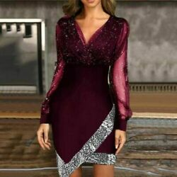 Women Party Fashion ladies Beach Dress Sexy Holiday Sequins Elegant banquet $23.94