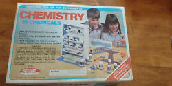VINTAGE SCIENCE SKILCRAFT # 5563 CHEMISTRY SET LAB IN BOX WITH 15 CHEMICALS $185.00