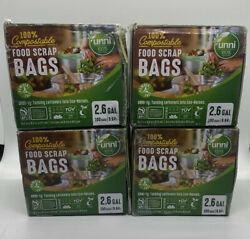 Lot Of 4 Food Scrap Kitchen Trash Compostable Bags 2.6 Gallon 100 Count 4x100 $59.99