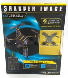 Sharper Image Rechargeable RC 2.4GHz DX 1 Micro Drone w Gyroscopic Technology $26.99