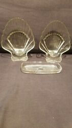 Vintage Glass Clamshell set of two $1.50