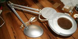 LTS Weighted Magnifying LED Table Lamp 24quot; LTS 600 02 Silver $24.99