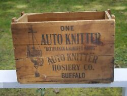 Shipping box antique for sock machine 1930#x27;s $55.00
