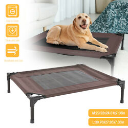 Elevated Dog Bed Lounger Sleep Pet Cat Raised Cot Hammock for Indoor Outdoor $28.59