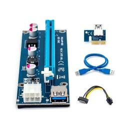 Full Speed GPU Adapter with Antijam PCI 1X Extender Riser Cable 60cm for Miner $8.67