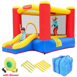 Safety Inflatable Bounce House Slide Kids Jump Castle 350W Blower Carry Bag $139.89
