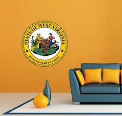 West Virginia State Seal USA Wall Room Garage Decor Sticker Decal 22quot;X22quot; $19.99