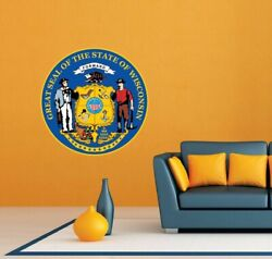 Wisconsin State Seal USA Wall Room Garage Decor Sticker Decal 22quot;X22quot; $19.99