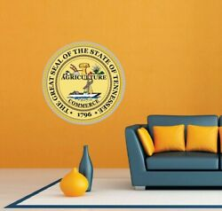 Tennessee State Seal USA Wall Room Garage Decor Sticker Decal 22quot;X22quot; $19.99