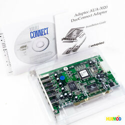 NEW Adaptec AUA 3020 Adapter PCI Card 4 USB 2.0 2 Firewire Port Expansion Card $14.89