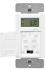 ENERLITES Digital Programmable Timer Switch In Wall for Fans Lights and Motors $21.99