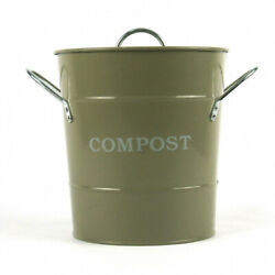 Metal Kitchen Compost Caddy Gooseberry Green colour amp; Composting guide C $76.72