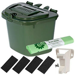 All Green Green 5L Vented Kitchen Compost Caddy Composting Bin for Food C $105.00