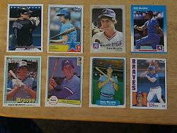 Dale Murphy 8 Card Lot JUST PULLED fresh cards Nice Lot $2.49