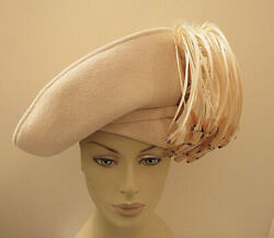 Jack McConnell Hat Feather Fringe White Felt Red Feather Label $249.99