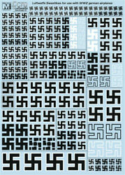 German Luftwaffe Swastikas for WW2 decal 1 72 1 48 1 32 Multi Scale from FCM $14.59