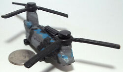 Micro Machine Plastic Military CH 47 Chinook Helicopter in Black Gary Blue Camo $8.00