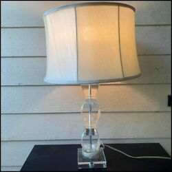Vintage Acrylic Lamp Large Table Tall Classic $40.00