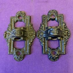 Lot Of 2 Used Unbranded Vintage Cast Oil Lamp Or Planter Wall Brackets U $21.99