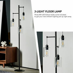 64quot; Contemporary Floor Lamp Tall Standing Lamp Room Decor for Home Office Black $89.17