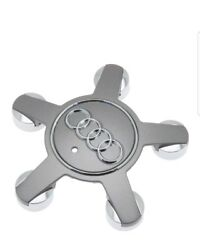 1pc USED NEW AUDI A SERIES GRAY AND CHROME WHEEL CENTER CAP 1PC