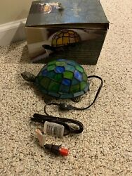 Tiffany Style Stained Glass Turtle NIB $39.99