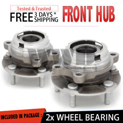 2x 513296 Front Wheel Hub Bearing Assembly Stud For 2015 17 Nissan Murano {Pair} $76.99