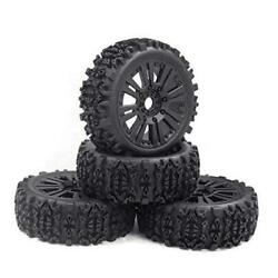 RCStation 1 8 Scale RC Buggy Tires 17mm Hex RC Wheels and Tires PreGlued Rim $44.42