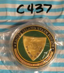 RHODE ISLAND STATE POLICE CHALLENGE COIN C437 $15.00