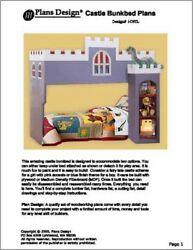 Castle Loft  Bunk Twin Bed Furniture Woodworking Plans on Paper