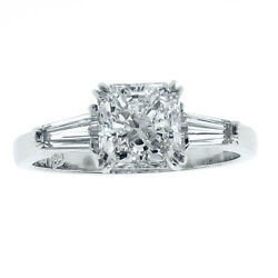 0.76 Carat Total Weight Classic Radiant Diamond Engagement Ring G FL GIA
