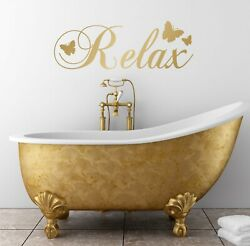Relax Wall Quote Decal Sticker Bathroom Bedroom Words Adhesive DIY Vinyl GBP 31.46