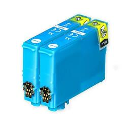 2 XL Cyan Ink Cartridges non-OEM to replace T1302 Compatible for Printers $6.89