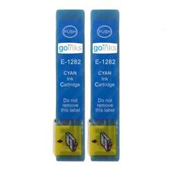 2 Cyan Ink Cartridges non-OEM to replace T1282 Fox Compatible for Printers $6.45