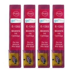 4 Magenta Ink Cartridges non-OEM to replace T1283 Fox Compatible for Printers $9.06