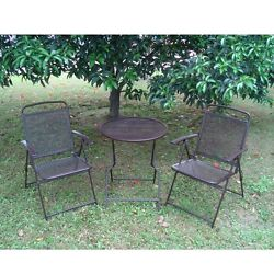 Bistro set Patio Set 3pc Table & Chairs Outdoor Furniture Wrought Iron CAFE set