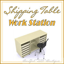 BonEful NEW Sewing Shipping Craft TABLE Sticker Desk Shelf Drawer Ebay Business