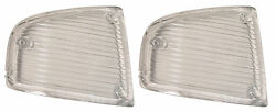 1970 1971 Corvette Parking Light Lens Pair Left and Right Hand Made in the USA